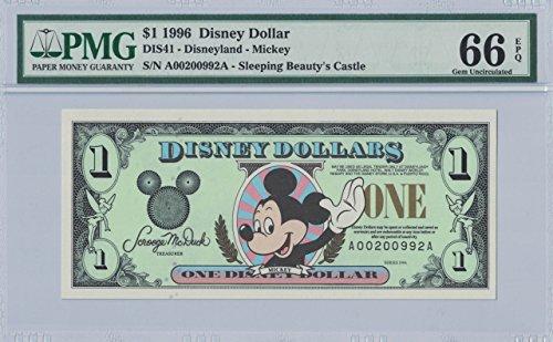 Disney Dollar 2008 Mickey $10 S/N A00200992A PMG 66 EPQ Gem Unc