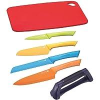 Scanpan Spectrum 6pc Kitchen Knife Set with Cutting Board & Sharpener