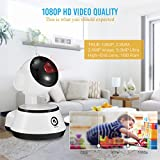 DIGOO-M1Z 1080P Home Security Camera, Wireless Wifi IP Camera, Pan/Tilt/Zoom Function, 355°Horizontal & 90° Vertical Rotation, Baby Monitor With Night Vision Motion Detection, ONVIF Support, White