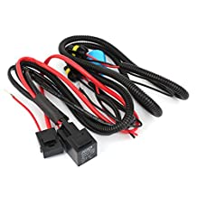 uxcell® Xenon HID Conversion Relay Wiring Harness 9004 9007 H13 12V 40A