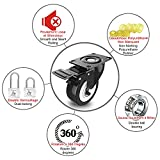 """2"""" Swivel Caster Wheels with Safety Dual Locking"""