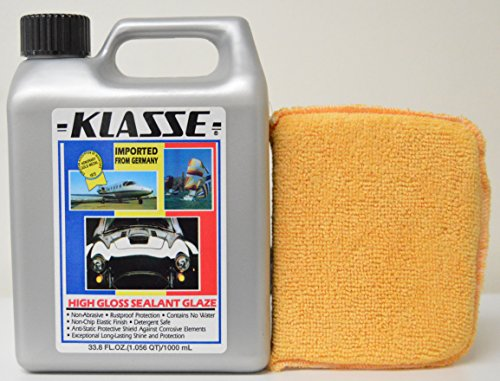 Klasse High Gloss Sealant Glaze - Klasse High Gloss Sealant Glaze 33.8 oz with Free Microfiber Applicator