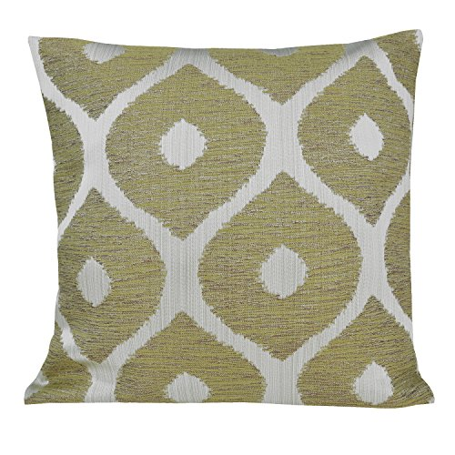 Ahmedabad Cotton Jacquard Polyester Cushion Cover – 16″x 16, Green