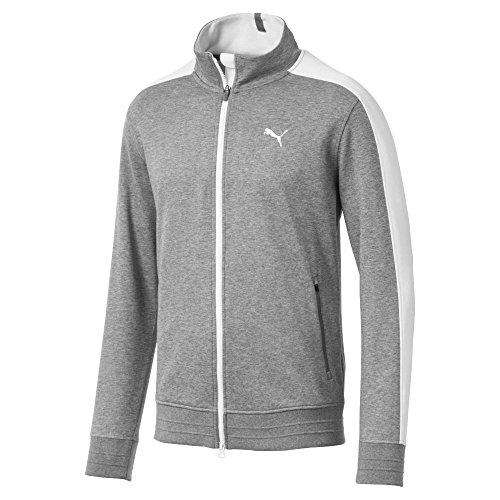 Puma Golf Men's 2018 T7 Track Jacket, XX-Large, Medium Gray Heather (Gray Mens Track Jacket)