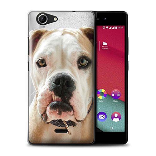 STUFF4 Phone Case/Cover for Wiko Pulp Fab 4G / Gnashers/Dog Design/Funny Animal Meme - Designer Dog Fab
