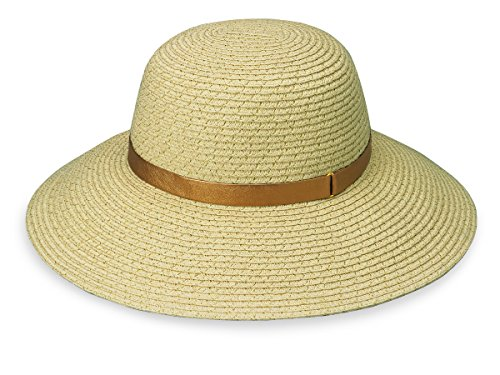 Wallaroo Women's Stella Sun Hat - UPF 50+ - Adjustable Fit, Natural/Gold ()