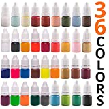 Soap Dye for Soap Making supplies - 36 Colors - Bath Bomb Liquid Dye - Non-toxic - Animal friendly - Irritant...