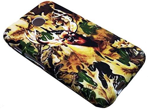 For TracFone Alcatel Pixi Unite A466BG Soft Flexi TPU Skin Protective Case Phone Cover + Gift Stand (TPU Camo Deer)