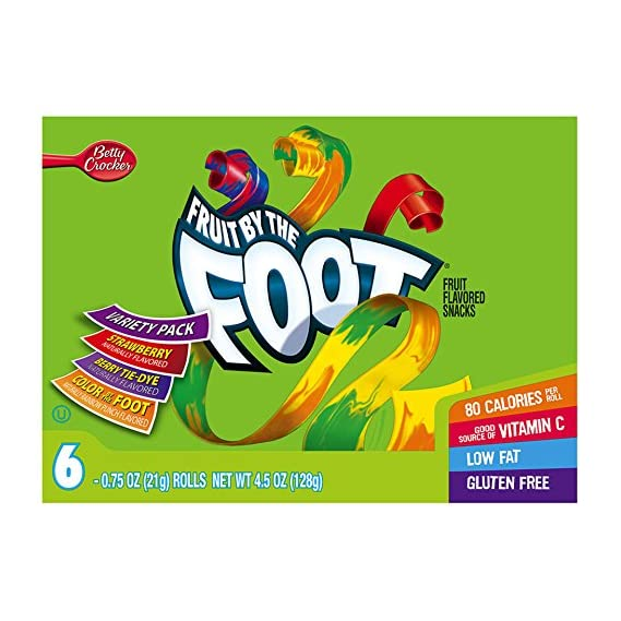 Betty Crocker Fruit by The Foot Variety Pack, 128g
