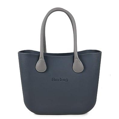 2fc4c08d23 ANLAIBEIER Ambag Classic Women's handbag Fashion Obag Style Big Classic  AMbag body with Colorful Handles DIY Color Dark grey Classic: Handbags:  Amazon.com