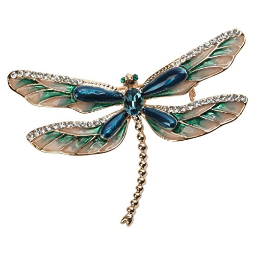Szxc Enamel Dragonfly Insect Series Brooch Pin Accessories For Her Women Jewelry by Szxc