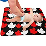 Crib with Change Table Canada GLing-LIFE Canada Flag Maple Leaves Pattern Portable Diaper Baby Changing Pad Multi-Purpose Travel Changing Mat