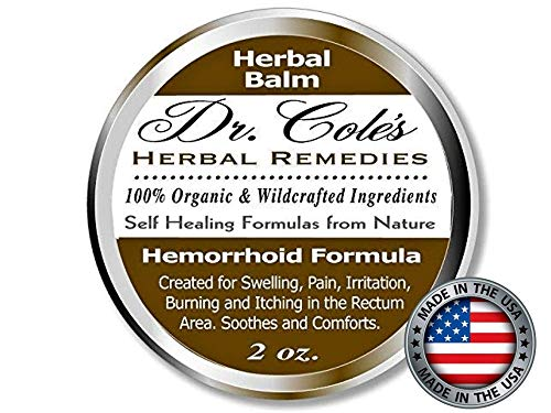 Dr. Cole's Hemorrhoid Treatment. Organic Herbal Ointment for Hemorrhoid Relief. Natural Remedy for all types of Internal and External, Hemorrhoids. Soothes Itching, Swelling & Pain. Safe for all ages. ()