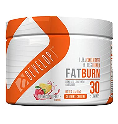 DEVELOPT FAT BURN POWDER - Advanced Thermogenic Pre Workout Formula, Strawberry Pineapple, 30 Servings