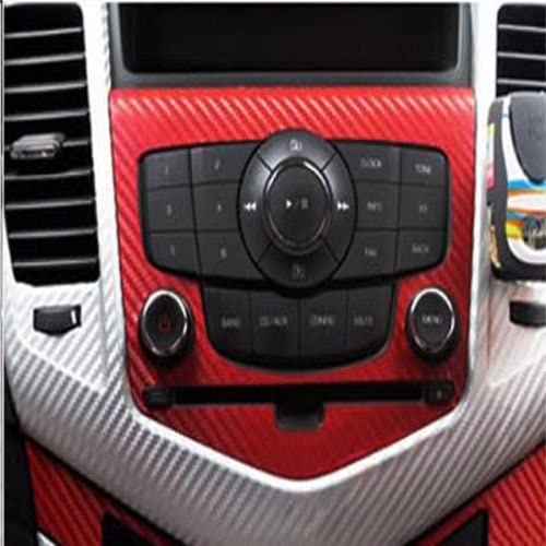 WindMax/® 3D Carbon Fiber Vinyl Car DIY Wrap Sheet Roll Film Sticker Decal Red Color 30*152cm 12*60