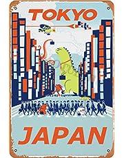 RuFS Tokyo, Japan 1 Cartel de Chapa Pared Hierro Retro Pintura Placa Chapa Vintage Arte Creatividad Decoración Artesanías para Cafe Bar Garaje Hogar