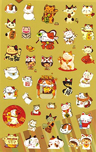 [DECO FAIRY] Lovely Fortune Cat Style Stickers ()