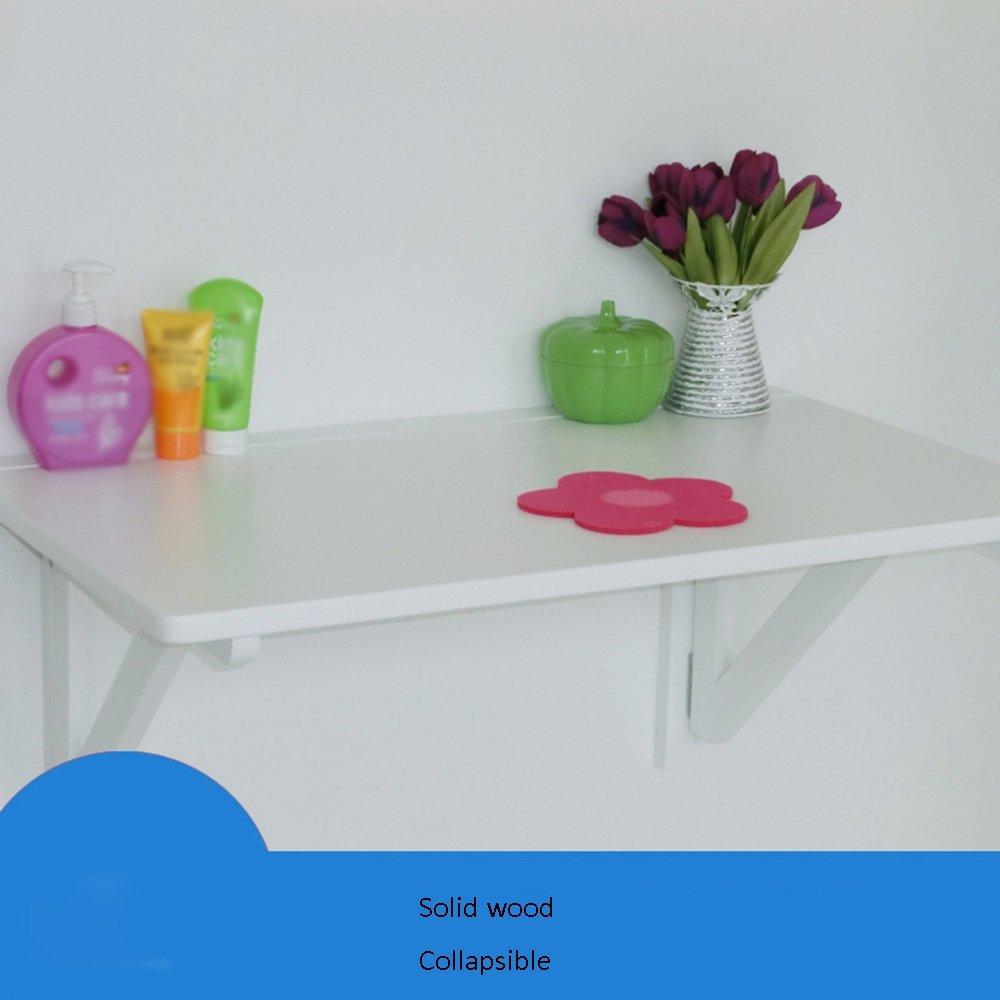 ZZHF 壁のテーブル無垢材の壁掛けテーブル折り畳み式の壁のテーブル家庭用机3色利用可能サイズオプション デスク ( 色 : 白 , サイズ さいず : 80センチメートル ) B078X4QT2N 80センチメートル|白 白 80センチメートル