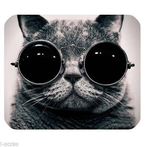 New Cool Cat Wearing Sunglasses Animal Anti-Slip Mice Pad Mat Mouse Pad ()