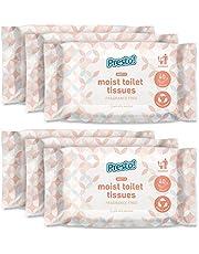 Amazon Brand Presto! Gentle Moist Toilet tissues - Flushable - Pack van 240 (40 tissues x 6 packs)