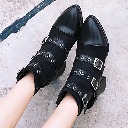 AIYOUMEI Women's Classic Boot Black 84qwjCIt