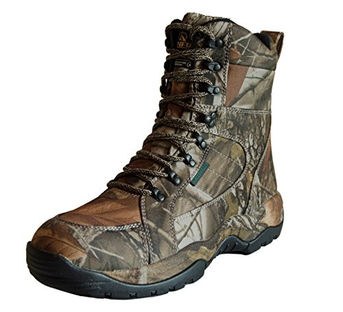 - R RUNFUN Men's Lightweight Anti-Slip Waterproof Hunting Boots (14 D(M) US, Camo 200g)