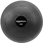 Amazon Basics Slam Ball, Smooth Grip, 20 lb, Black