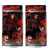 (US) Nightmare on Elm Street Freddy Krueger 7 inches Action Figure Series 4: Set of 2