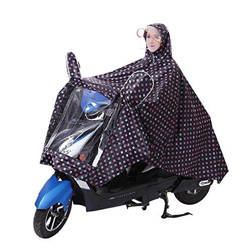 Veste Portable Capuche Camping Imperméable Pour De Manteau Noir Vêtement Femmes Hommes Avec Cyclisme Protection Pluie Moto Etanche Visière À Scooter Poncho Vélo Equitation Epais Cape 7TRqwzPw