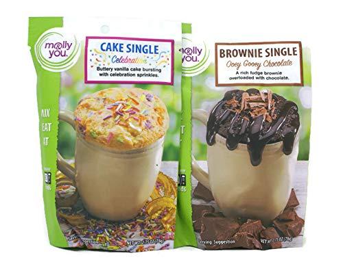 Ooey Gooey Brownies - Variety Pack - Molly & You Brownie & Cake Singles (2.75 Oz) - Ooey Gooey Chocolate, Celebration