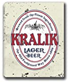 "KRALIK Lager Beer Stretched Canvas Sign 16"" x 20"""
