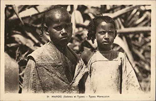 Maroc Scenes et Types - Types Marocains Africa Morocco Original Vintage Postcard