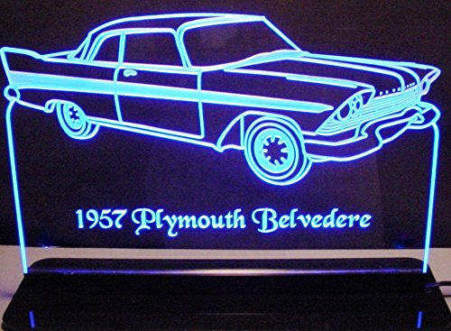 ValleyDesignsND 1957 Plymouth Belvedere 2dr Acrylic Lighted Edge Lit 12