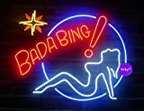 Urby® 24''x20'' Larger Bada Bing Girls Beer Bar Neon Sign 3-Year Warranty-Best Choice!