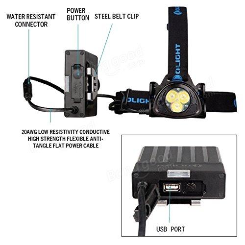 Bazaar Phare de phare olight h35 LED batterie rechargeable