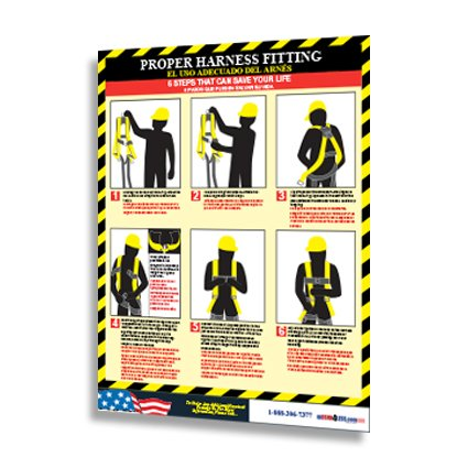 Proper Harness Fitting Poster (Bilingual)