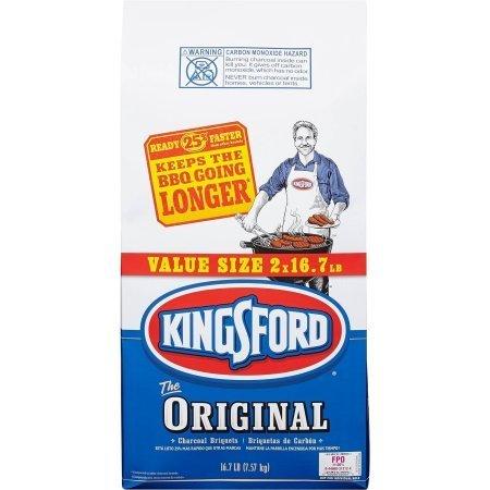 Kingsford Original Charcoal Briquettes, Six 16.7 lb Bags by Kingsford