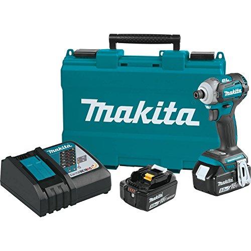 Makita XDT12T 18V LXT锂离子无刷无绳快速换档模式4速冲击驱动套件(5.0Ah),