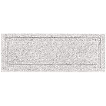 Long Black Memory Foam Bath Rug