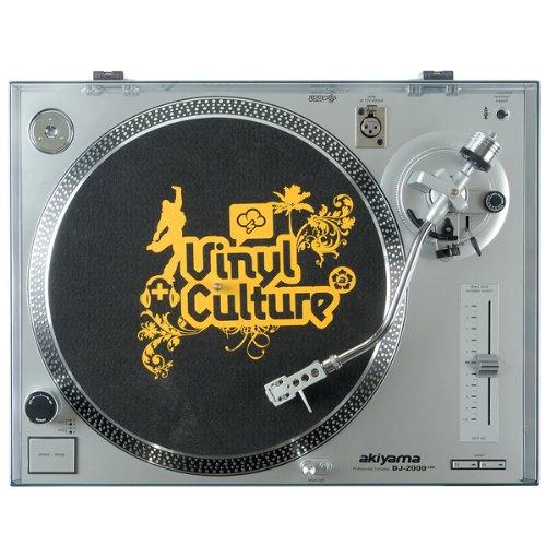 Akiyama DJ2000USB - Giradiscos profesional, plata