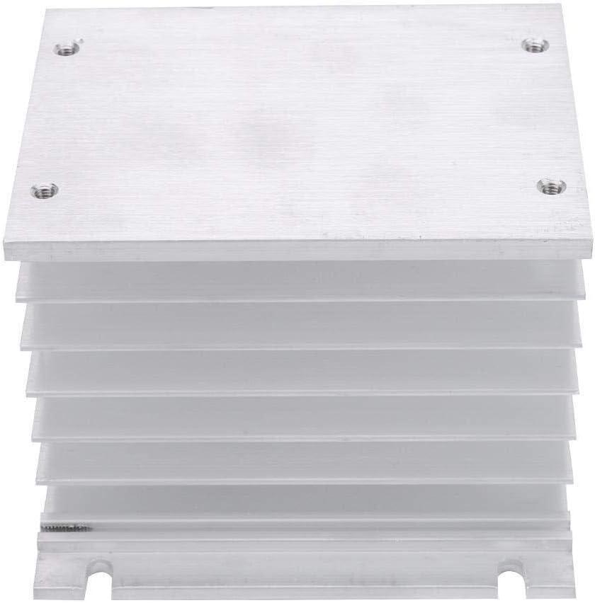 Pratico dispositivo di raffreddamento per notebook Dissipatore di calore Modulo di dissipatore di calore trifase in alluminio Aletta di raffreddamento Dissipatore SSR Dissipatore di calore a rel/è a