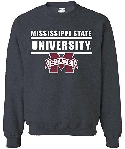 - Image One NCAA Mississippi State Bulldogs Adult NCAA Bars Logo Crewneck Sweatshirt,Medium,DarkHeather