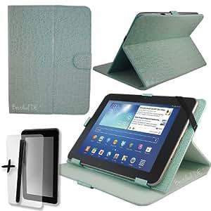 'Lujo Azul Cocodrilo Bestdeal UK Case Funda para Sweex Yarvik Zetta & EXXA 9.7pulgadas Tablet PC + Protector de pantalla & Stylus