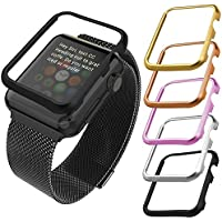 Apple Watch Case(42MM), Bandmax Lightweight Black Gun Plated Hard Protective Case for Apple Watch/Watch Sport/...