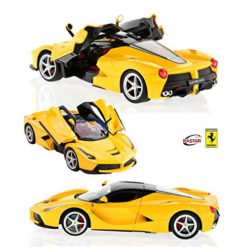 RASTAR 1:14 Scale Ferrari LaFerrari with 2.4 GHz Remote and Rechargeable Batteries Yellow by RASTAR