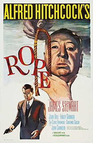 Alfred Hitchcock Movie Posters (Rope Us Poster Art From Top: Director Alfred Hitchcock James Stewart 1948 Movie Poster Masterprint (11 x 17))