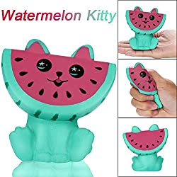 PSFS Squishys Toys,Adorable Squishies Watermelon Kitty Puppy Slow Rising Fruit Scented Stress Relief Toy (Watermelon)