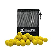 EKIND 100 Rounds Bulk Refill Ammo Bullet Balls Compatible for Nerf Rival, Apollo, ZECA, Khaos, & Atlas Blasters (Yellow)