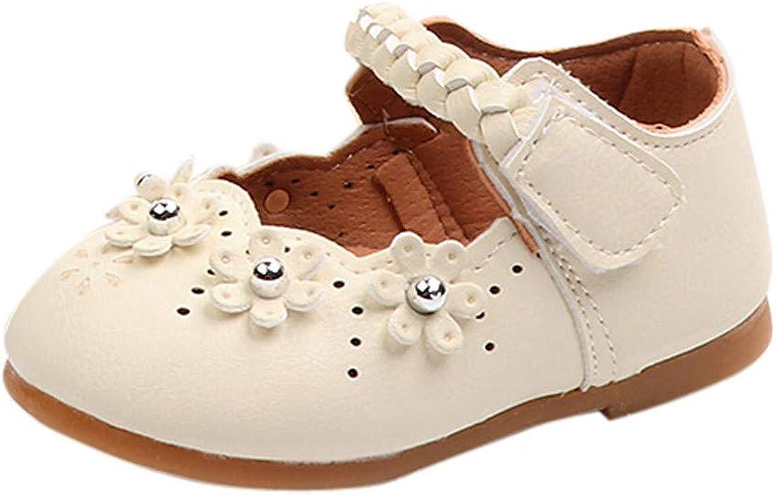 Naturazy Cuero Zapatillas Respirable Mocasines Deportes Sneaker Flor Plataforma Niñas Bebé Primavera Flock SóLidos Suave Zapatos Casual Zapatillas