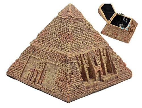 Ebros Ancient Egyptian Pyramid Box 7 Wide The Great Pyramid Of Khufu Sculpture In Sandstone Finish